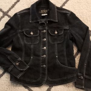 Jean jacket LIVE A LITTLE womens med.